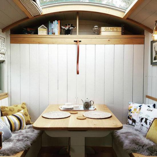 Inside Hayley's Hut